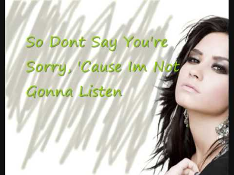 Demi Lovato Everytime You Lie Lyrics♪