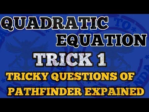 NDA MATHS TRICKS|CHAPTER WISE|QUADRATIC EQUATIONS TRICKS | FOR NDA|NDA,AIRFORCE,JEE NAVY,SSR,TRICKS| thumbnail