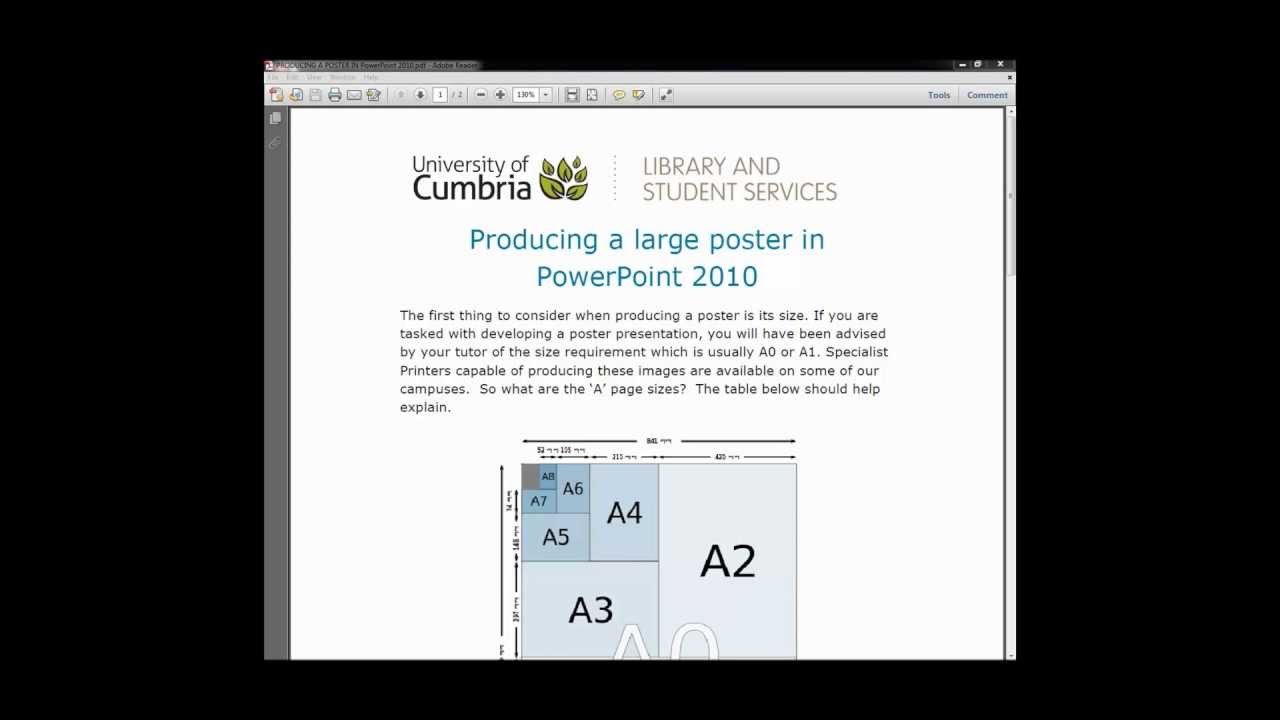 how to create a large poster using powerpoint youtube