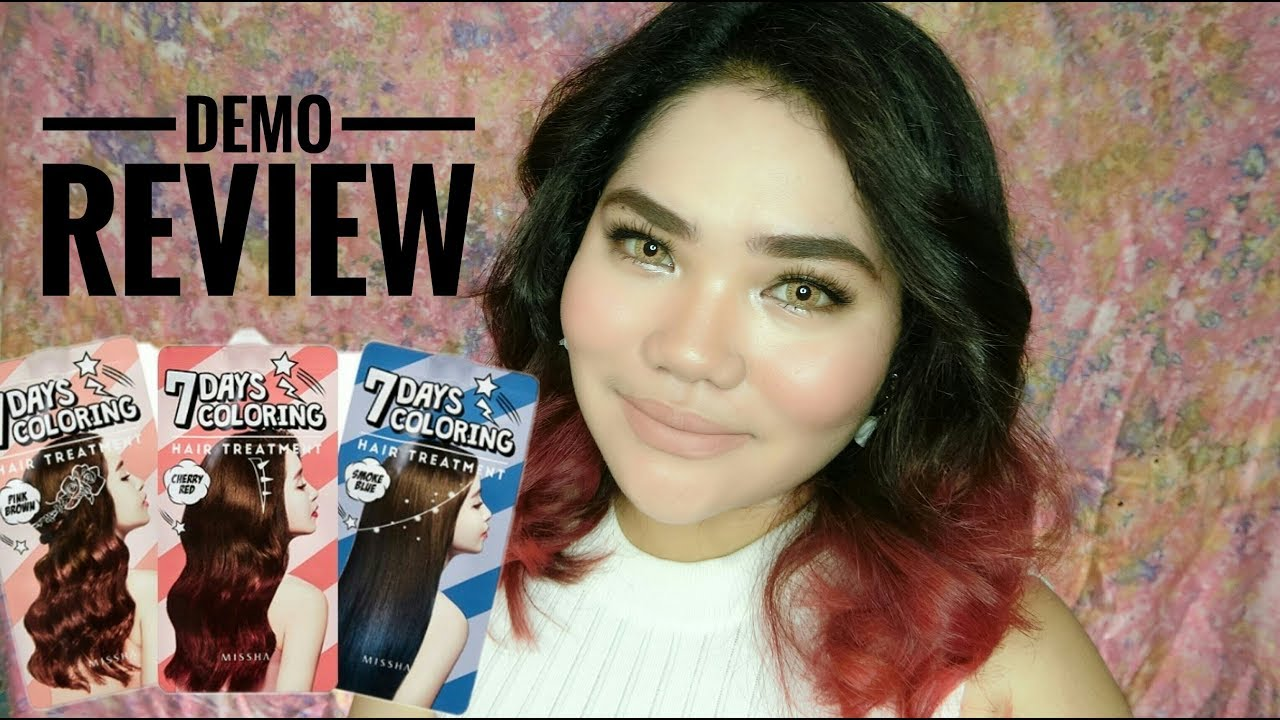 Missha 7 Days Hair Coloring Treatment Review