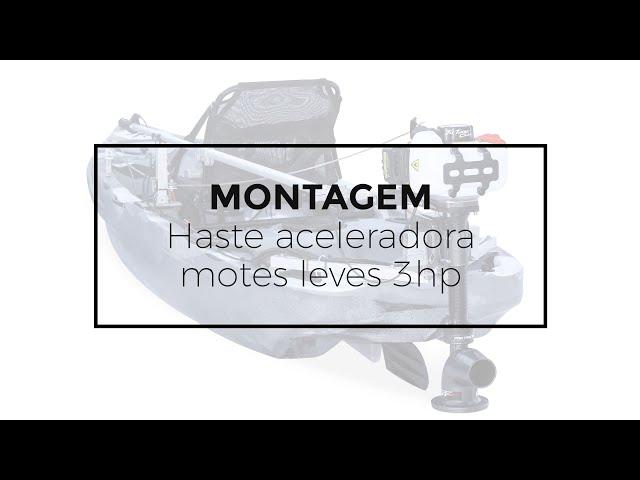 142 - Montagem da haste aceleradora para motores da linha leve de 3hp