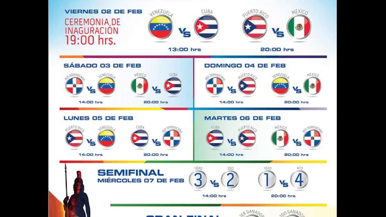 Serie A Calendario.Calendario Serie Del Caribe 2018