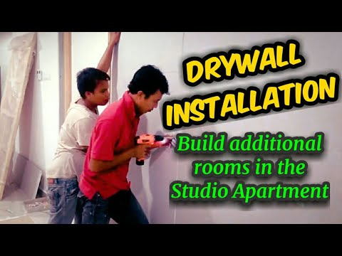 Gypsum Board Partition - Drywall installation: Build additio