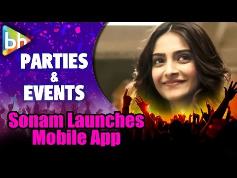 Sonam Kapoor Launches Her Mobile App