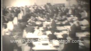 John F. Kennedy elected President of the United States archival newsreel and footage