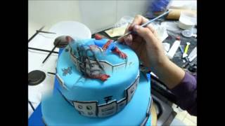עוגת ספיידרמן מבצק סוכר - שלינקה