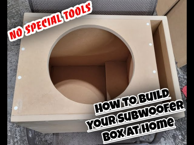 How To Build A Subwoofer Enclosure  At Home With No Special Tools