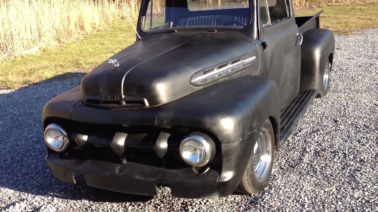 1951 1952 Ford Hot Rod Truck Pics F1 Rat Youtube
