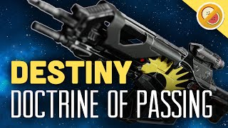 DESTINY Doctrine of Passing (Adept) Fully Upgraded Legendary Auto Rifle Review (Trials of Osiris)