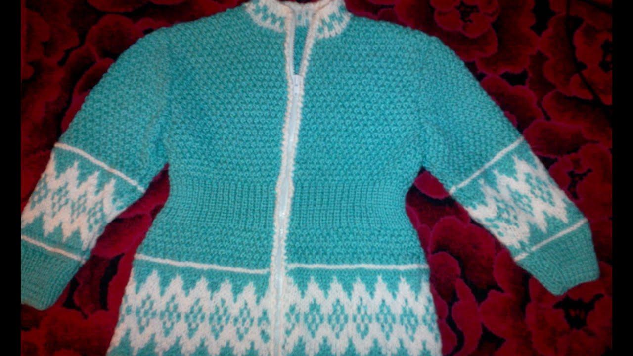 Ютуб вязание на спицах свитера 78