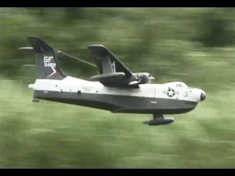 ラジコン水上機(マーチン・マリン)の飛行 Seaplane P5M Marlin
