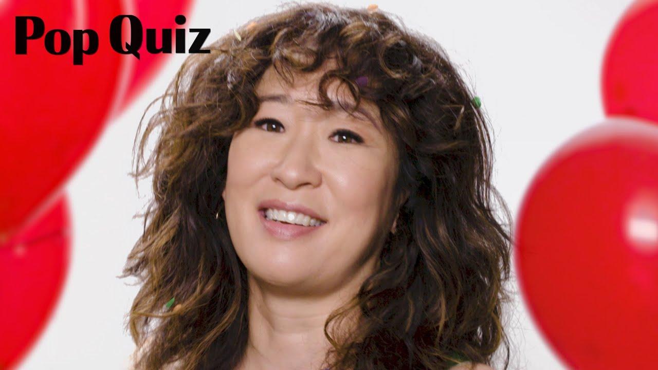 Killing Eve Star Sandra Oh Plays Pop Quiz | Marie Claire