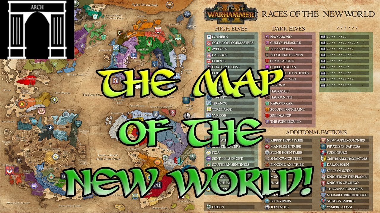 Total war warhammer 2 a map of the new world youtube total war warhammer 2 a map of the new world gumiabroncs Images