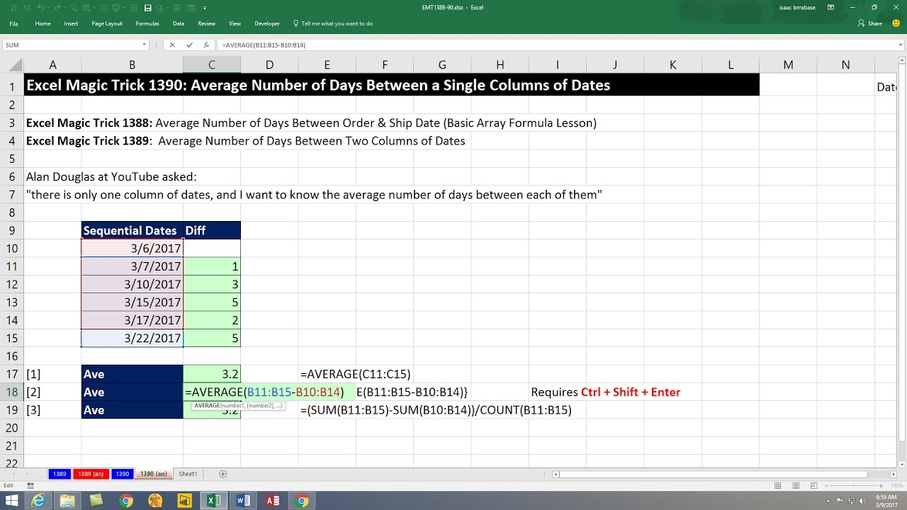 Average Excluding Min and MAX Values. TRIMMEAN function. 6 Formula Examples. EMT 1744