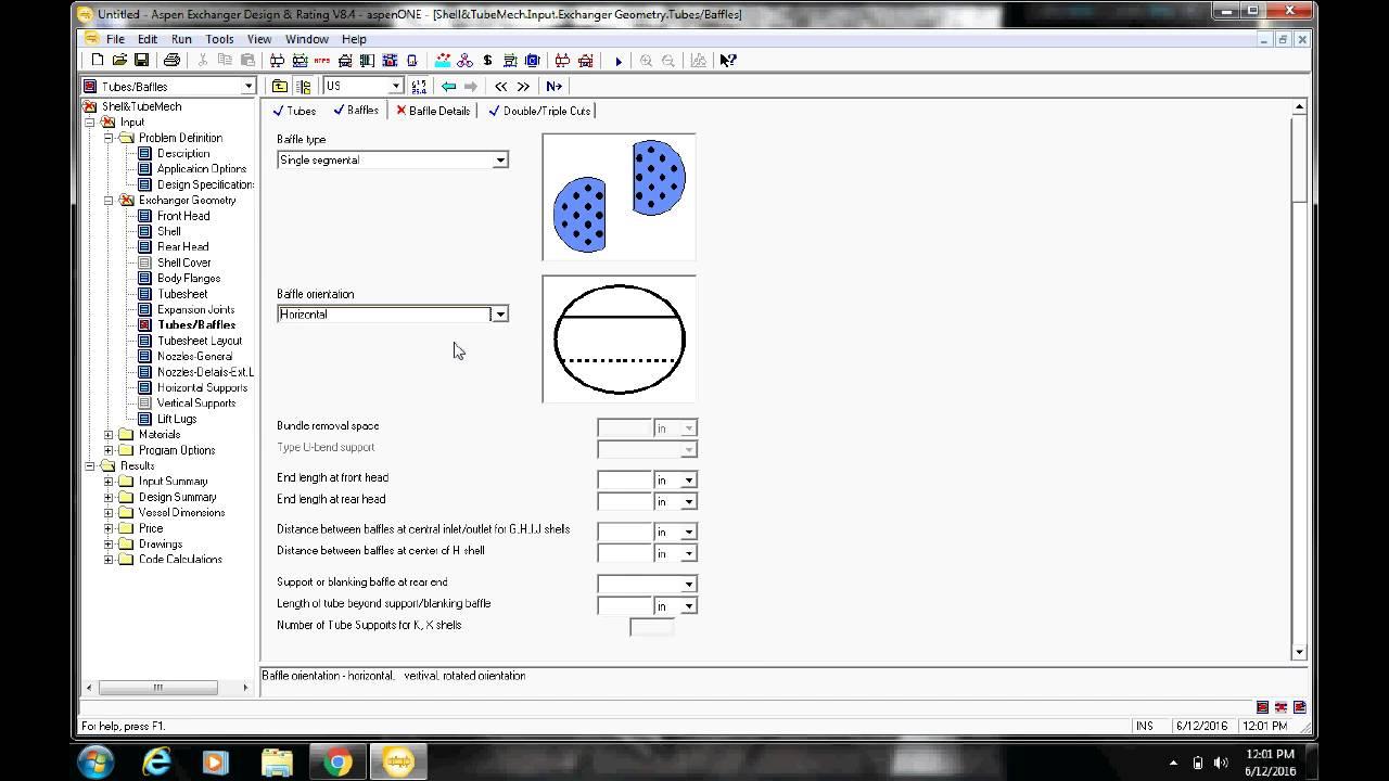 Aspen Exchanger Design And Rating Tutorial Youtube