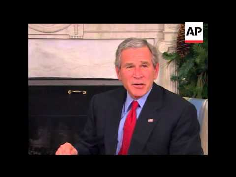 President Bush told Abdul-Aziz al-Hakim, the Shiite leader of the largest bloc in Iraq