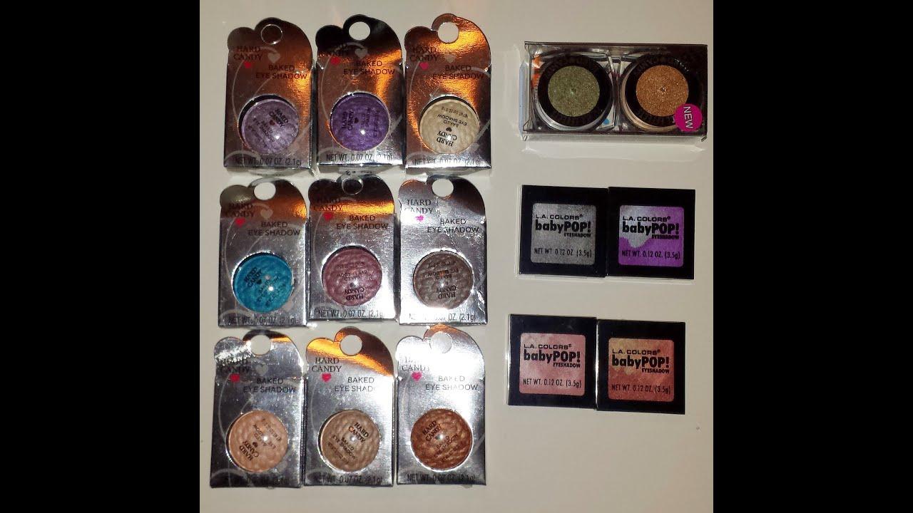 walmart makeup eyeshadow. hard candy / la colors walmart makeup haul with swatches eyeshadow