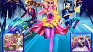 NEW мультик онлайн для девочек—Супер Барби игра одевалка для детей