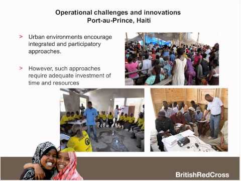 Knowledge into action: British Red Cross' experiences going urban