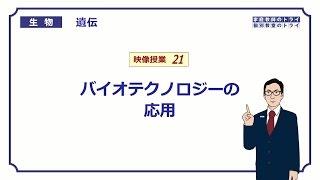 【高校生物】 遺伝21 バイオテクノロジーの応用(13分)