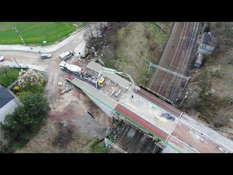 Budowa wiaduktu w Radlinie (26.04.2021)