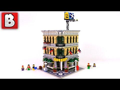 Big LEGO City Grand Emporium Addition   Set 10211   Unbox Build Timelapse Review