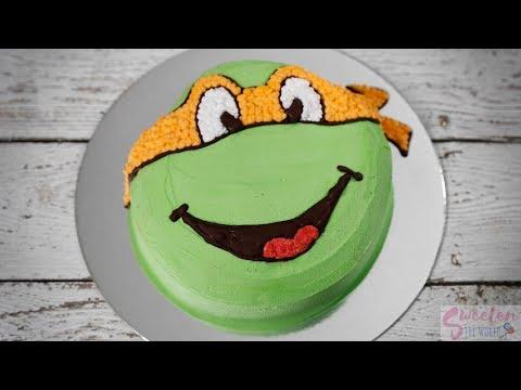 Really Fast Way For A Ninja Turtle Cake
