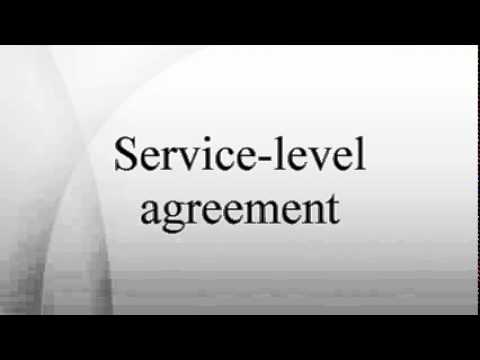 Service-level agreement