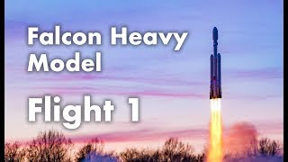 Falcon Heavy Model - Flight 1