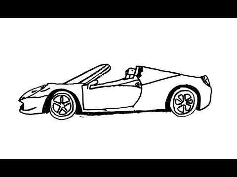 Как нарисовать машину Кабриолет или Красивые рисунки