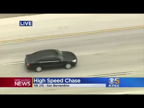 High-speed police chase of stolen vehicle, from Orange County north through Riverside County