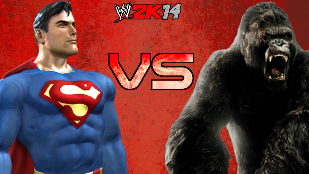Wwe 2k14 King Kong Vs Superman Fr Hd Youtube