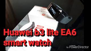 Huawei talkband B3 Lite EA6 tracker smart watch unboxing