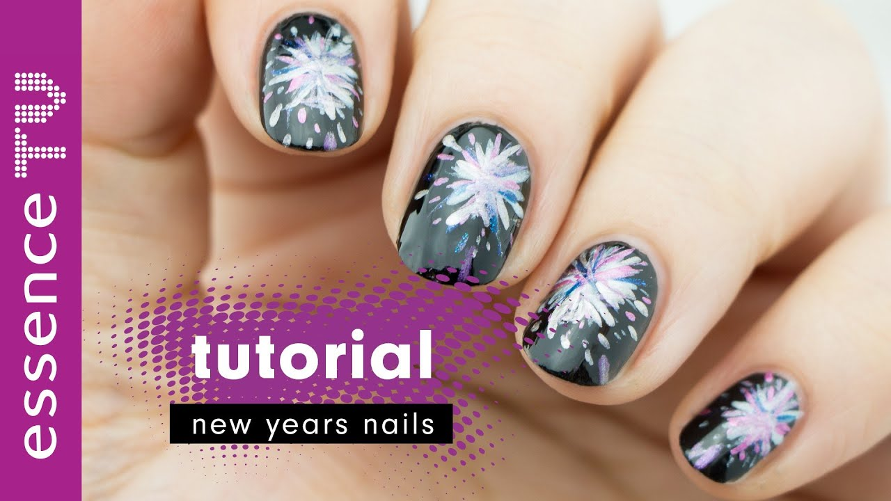 nageldesign silvester nail art tutorial deutsch fireworks new year anf nger l essencetv youtube. Black Bedroom Furniture Sets. Home Design Ideas