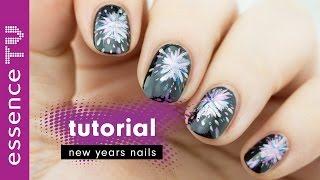 nageldesign silvester nail art tutorial deutsch fireworks new year anfänger l essenceTV