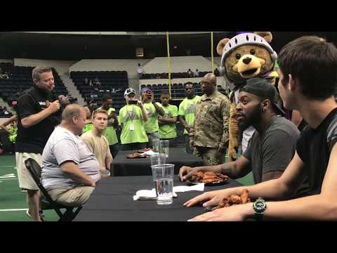 Wing Zone Wing Eating Contest @ Roughriders Military Appreciation Night (5.27)