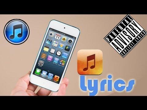 iPad| iPod Touch| iPhone|| Put Lyrics in Music