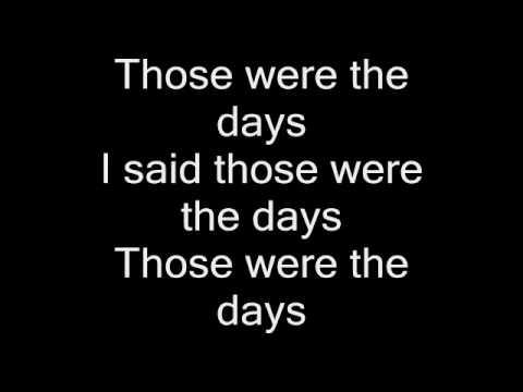 Aaliyah - Those Were The Days Lyrics