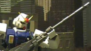 gundam war stop motion rgm 79 g and ez 8 vs gouf and gm custom