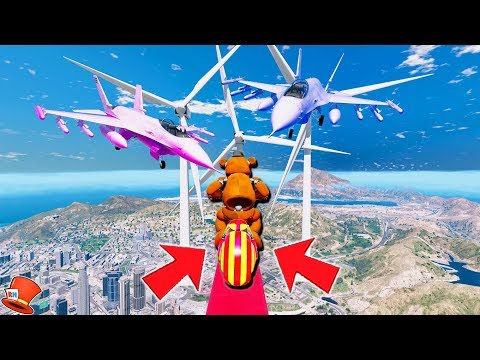 WITHERED FREDDY'S WORLD'S HARDEST BMX DEATHRUN ANIMATRONICS!! (GTA 5 Mods FNAF Kids RedHatter) thumbnail