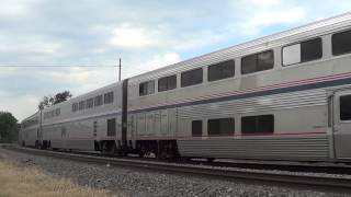 Amtrak With 2 Northern Sky Charter Private Cars