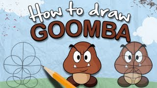 How to Draw a Goomba - The Lonely Goomba
