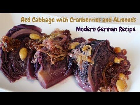 German Red Cabbage Cranberries Almonds