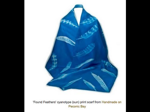 Making A Cyanotype Silk Scarf