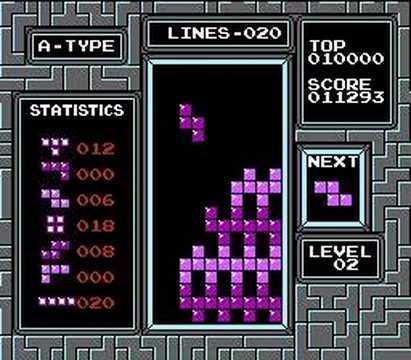 A bored god plays Tetris