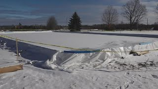 Teenager builds ice rink for community