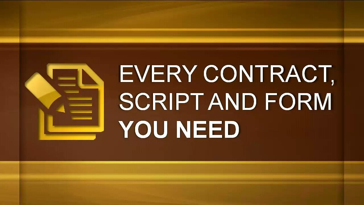Every Contract, Script And Form You Need To Invest In Real Estate ...