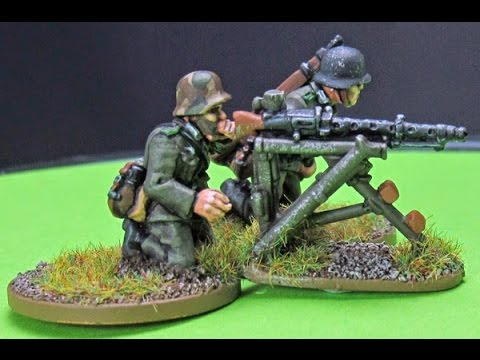 How to Paint a German MG34 Team Part 1