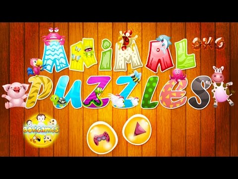 Play And Learn Animals Name in English with Free Fun Animal Puzzles Game