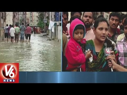 Heavy Rains Wreak Havoc In Hyderabad | Nizampet People Facing Problems With Floods | V6News
